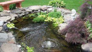 Zuurstofpomp en watercirculatie vijver